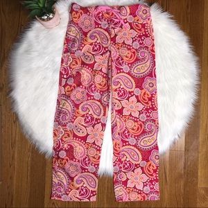 Vera Bradley Raspberry Fizz PJ Pajama Pants Small